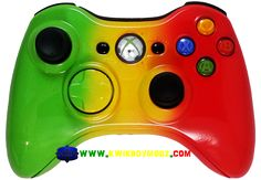 Rasta Xbox 360 Controller - KwikBoy Modz #rasta #bobmarley #rastacontroller #customcontroller #moddedcontroller #xbox360 #xbox360controller #gaming #gamer #gamers Xbox 360 Controller, Gaming Accessories, 8 Bit, Bob Marley, Video Game Console, Over The Years, Video Games, Cool Stuff, Consoles