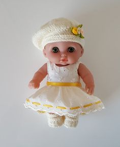 """Handmade Baby Dolls Clothes for 8.5"""" Berenguer Lil Cutesies"""