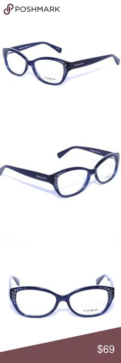 COACH 6076 5110 Eyeglasses Optical Frames Glasses Brand New 100% Authentic COACH 6076 5110 Eyeglasses Optical Frames Glasses Navy ~ Silver Logo Print ~51mm  Comes with Generic Case, NO Pouch Coach Accessories Glasses