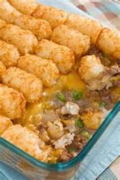 Hamburger tator tot casserole Recipe | Just A Pinch Recipes