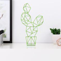 Origami Kaktus aus Holz in vielen verschiedenen Farben erhältlich.