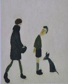 A Girl A Boy And A Dog English Artists, Naive Art, Abstract Expressionism, British, Paintings, Dog, Drawings, Wall, Artwork