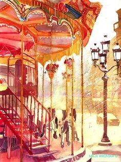 Maja Wronska, 1989 | Watercolor Cityscapes painter | Tutt'Art@ | Pittura * Scultura * Poesia * Musica |