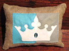 Crown Pillow. $20.00, via Etsy.