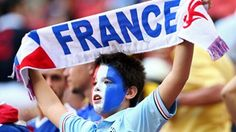 A France fan soaks up the atmosphere