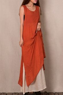 Sleeveless Flare Maxi Dress + Under Dress Twinset
