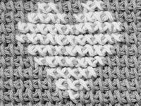 Tutorial; How to cross stitch on crocheted afghan stitch ~~