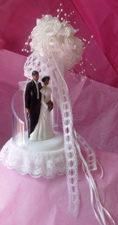 African American Wedding Cake Topper Vintage Lacey By Chriscre 1200