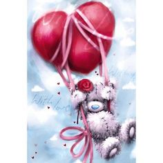 Heart Balloon Me to You Bear Valentines Day Card £2.49