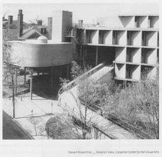 Carpenter Center for the Visual Arts, Le Corbusier, 1963