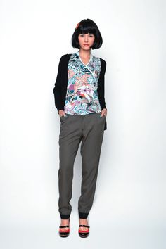 PEKOLENE-010 SKUNKFUNK women's t-shirt season: spring summer 13 fabric content: color: grey,black,grey price: $69.00