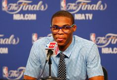 NBA star and Oklahoma Thunders point guard Russell Westbrook in RVS Mod. Ayalisse col. Cobalt/Sky Blue