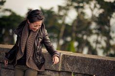 Greenery :: Leather jacket & Olive pants : Wendy's Lookbook