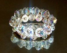 505 Stunning Vintage AB Aurora Borealis Crystal Bead Cluster Brooch Pin Goldtone   eBay