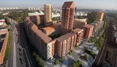 Bostadskvarteren i Årstaberg ger en bild av hur det kan se ut när kvartersstaden växer ut över tullarna.