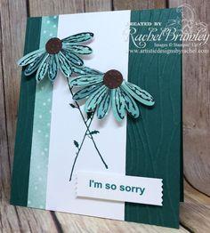 Daisy Delight, Designer Series Paper, Seaside Embossing Folder, Softly Falling Embossing Folder, Cone flowers, sympathy, northwest arkansas, bella vista, arkansas