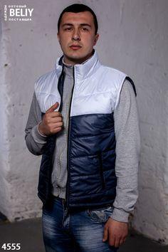 506f6f1cb7b7 Спортивная одежда зимняя, осенняя · Мужской утепленный жилет Цвет   темно-синий белая вставка. Размеры 46, 48