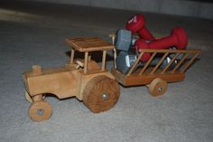Picture of Indestructable Wooden Tractor Toy