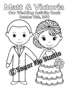 kiddie activity book! : wedding activity book coloring