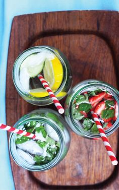Colorful flavored water recipes!