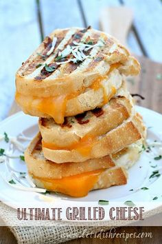 Ultimate Four-Cheese Grilled Cheese Sandwich with T-Fal OptiGrill (Giveaway)