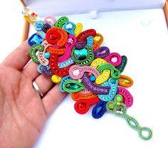 Extraordinary Soutache Bracelet Cuff Colorful por IncrediblesTN