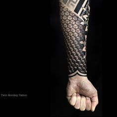 Leading Tattoo Magazine & Database, Featuring best tattoo Designs & Ideas from around the world. At TattooViral we connects the worlds best tattoo artists and fans to find the Best Tattoo Designs, Quotes, Inspirations and Ideas for women, men and couples. Geometric Sleeve Tattoo, Geometric Tattoo Design, Geometric Tattoo Filler, Geometric Tattoos Men, Tribal Tattoos, Forearm Tattoos, Body Art Tattoos, Sleeve Tattoos, Tatoos
