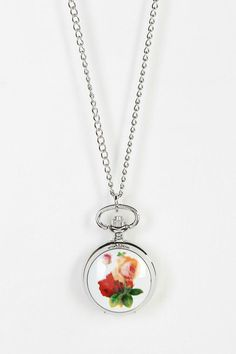 Floral Watch Necklace #urbanoutfitters