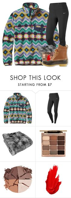 """""""i just love when my wifi craps out"""" by arielforlife ❤ liked on Polyvore featuring Patagonia, NIKE, Stila, lilah b., Maybelline and L.L.Bean"""