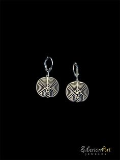 Bichon Frise earrings - sterling silver.