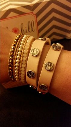 Wraps... #leatherwrap #beadedwrap Love Bracelets, Cartier Love Bracelet, Bangles, South Hill Designs, Wraps, Profile, Jewellery, Facebook, User Profile