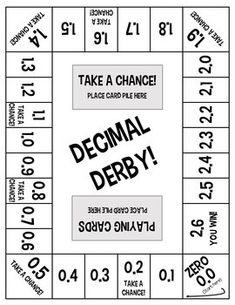 Fractions and Decimals Board Game Bundle