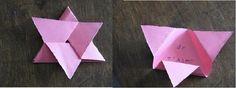 "carte fleur, message secret ""origami"""