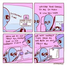 Whisper your choices to me so that I can yell them. Fast food drive thru by Strange Planet Cute Comics, Funny Comics, Tumblr Funny, Funny Memes, Jokes, Funny Cute, Hilarious, Stupid Funny, Planet Comics