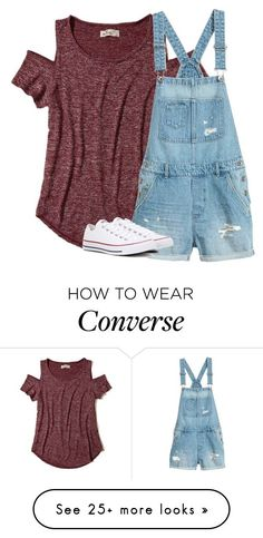 """Untitled #2793"" by laurenatria11 on Polyvore featuring Hollister Co. and Converse"