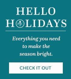 Hello Holidays! Visit my website at www.pamperedchef.biz/wendypeacock
