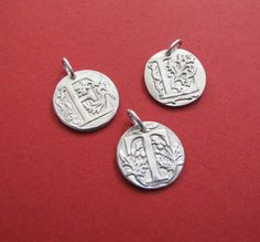 Monogram Pendant Wax seal Pendant Personalized by EvaLineJewelry, $30.50