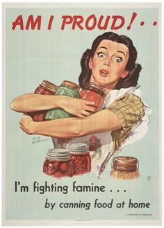 Fighting famine. Canning food.