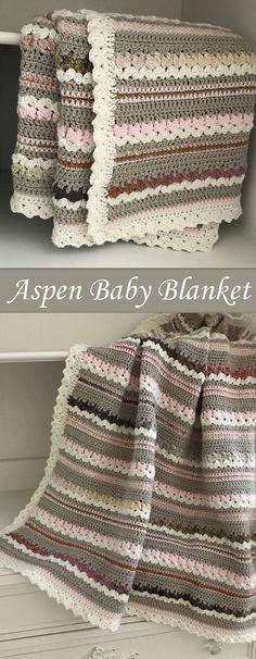 Crochet Baby Blanket Pattern - Aspen Woodland Baby Blanket #crochet #blanket #baby #nursery by Deborah O'Leary Patterns