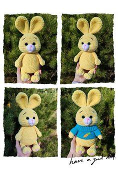 CROCHET BUNNY Pattern, Amigurumi pattern rabbit, Plush Easter Bunny tutorial