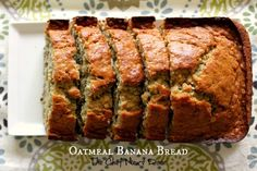 A twist on your everyday banana bread, this recipe is filled with oats and makes a hearty breakfast or snack!     I've professed my love f...