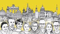 Yle kirjeenvaihtajat  - illustration @ Stina Tuominen