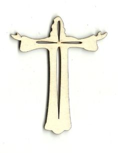 Jesus with a Cross Unfinished Laser Cut Wood Shape REL21