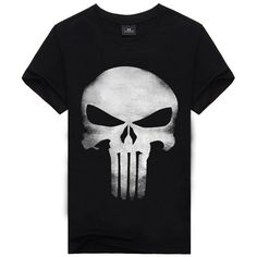 Punisher Skull Head Grim Reaper Black