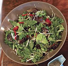 mixed #herb salad with honey-lime dressing