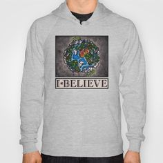 """The """"I Believe"""" Illustration Collection by Vernon Fourie is available at society… – Neck Pillow illustration Zip Up Hoodies, Neck Pillow, Vernon, Tank Tops, Tanks, American Apparel, V Neck T Shirt, Zip Ups, Pullover"""