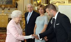 David Beckham meets with Queen Elizabeth at Buckingham Palace