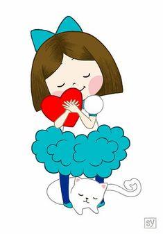 The World's Best Photos of ハート Illustration Mignonne, Cute Illustration, Cartoon Mignon, Art Mignon, Illustrations, Cute Images, Heart Art, Cute Drawings, Cute Cartoon