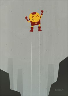 Iron Man by Chad Geran, via Behance