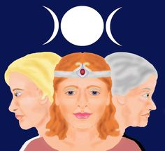 Triple Goddess digital artwork by Crystella Poupard